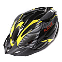 FJQXZ Unisex PC  EPS 21 Vents Negro  Amarillo Ajustable Casco de Ciclista