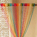 "Artístico Rainbow Color Mixing Cortina Line - colores aleatorios (39 ""W x 78"" L)"