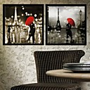 Forcet Paris Arquitectura Framed Canvas Set de 2