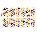 12 PCS Acrílico Accesorios Nail del arte con la mariposa