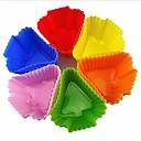 Tree Shape Muffin Moulds, Cupcake Moulds , 12 Pieces per Set, L 6cm x W 6cm x H 3cm, Random Assorted Color