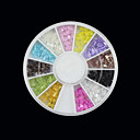 12-Color Transparent Bow Nail Art Arcylic Decorations