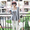 zoey burbuja manga de las mujeres camisa gris