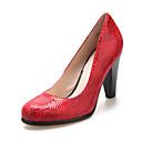 Leather Womens Chunky Heel Heels Pumps/Heels Shoes