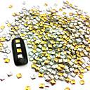 100PCS 2.5mm Punk Mixta de oro y de la plata del remache del clavo de la decoración del arte