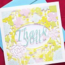 Floral Laser Cut Side Fold Thank You Card