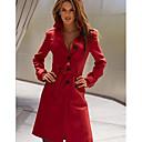 Womens Back Split Fit Long Trench Coat