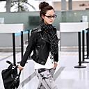 Womens Full Zip Short Slim Biker Jacket Coat