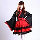 Classic Sweet Girl Red Kimono Maid Uniform