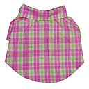 European Style Grid Pattern Shirts for Pets Dogs (Assorted Colors,Sizes)