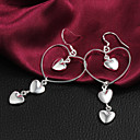 High Quality Elegant Slivery Alloy Womens Drop Earring(1 Pair)