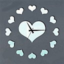 """14 """"H Estilo Moderno en forma de corazón del espejo del reloj de pared"""