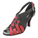 Womens Leather Ankle Strap Sandals Modern Dance Shoes