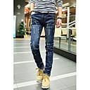 Mens Korean Stylish Ripped Slim Jeans