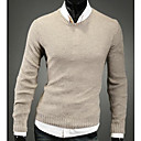 Mens Pure Color Long Sleeve Cardigan