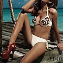 IKINI Womens Sexy Handwork Sequins Push Bikini(Screen Color)