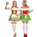 Green Wench Beer Maid Uniform Womens Oktoberfest Darling Cosplay Costume