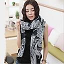 BaLiSha Moda Femenina largo de gran tamaño del mantón de la bufanda del anacardo