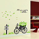 1PCS bicicletas extraíble colorido con Flor etiqueta de la pared