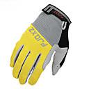 FJQXZ Unisex Anti-skid Full Finger Yellow Cycling Gloves
