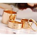 Abrir tres piezas del anillo simple de la Mujer Knuckle