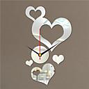 """24 """"H Estilo Moderno en forma de corazón del espejo del reloj de pared"""
