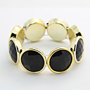 Canlyn Womens Vintage Exaggerate Big Circle Gem Bracelet