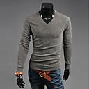 camisa de manga larga de la moda v cuello delgado de los hombres Urun (color de la pantalla)