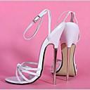 6.3in Tacones altos Mujeres bombea los zapatos atractivos de las sandalias de tacón alto