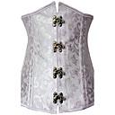 Womens Graceful Jacquard Weave Strapless Bandeau Corset