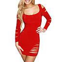 Mujeres QSMX Mención Western Hip Princesa vestido del club atractivo (rojo)