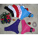De la Mujer Crochet Lace Pure Color G-strings (3/Paquete)