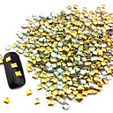 100PCS 2.5mm Punk Rivet Oro Nail Art Decoración