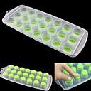 21 hoyos de la charola Icy Cube, Alimentos Sanos Silicona y PP Materiales, color al azar