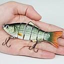 10,2 cm de la venta caliente 17g cebos duros de plástico 6 Segmentos Minnow señuelos de pesca (2 unidades)