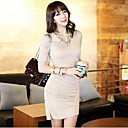Womens Sexy Long Sleeve Slim Dress