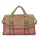 Erlen Womens European Style Car Suture Rhombus Pattern Tote/One Shoulder/Crossbody Bag(Pink)