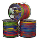 10-18LB 500M PE Braid línea de pesca de colores