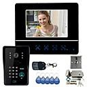 7 Video Door Phone DoorBell Intercom System Touch Panel Door Lock RFID Keyfobs 1V1 Electronic Door Lock