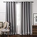 apagón minimalista gris cortina de relieve sólida (dos paneles)