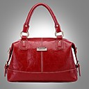 Erlen Womens Fashion European Style Simple Business Tote/One Shoulder/Crossbody Bag(Wine)