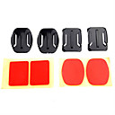 2x Flat Mounts  2x Curved Mounts with Adhesive Pads for Gopro Hero 3/3/2/1