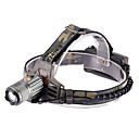 W0032 Adjustable Focus 3-Mode 1xCree XM-L T6 Waterproof Headlamp(2x18650,1800LM,Grey)