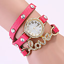 Koshi 2014 Amor Diamonade 3 reloj redondo de la Mujer (Fuchsia)