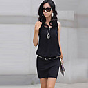 xiaonvren dress_x20 bodycon splicing (negro)