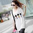 Womens  Print  Loose Big Yards Short Sleeve T-Shirt Modal Stretch Loose Big Yards Four Villains  T-Shirt