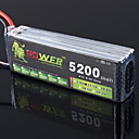 LION 11.1V 5200mAh 30C LiPo Battery(T plug)