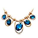 Leo heart  Korean Style Elegant  Crystal Gemstone Exaggerated  Necklace