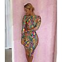 women-hot-sale-printing-snakeskin-color-clashing-dress
