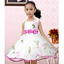 Girls Fashion Flower Party  Organza Dresses  Lovely Princess Summer  Dresses